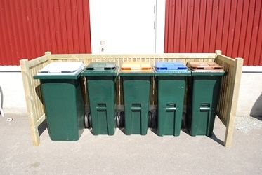Søppelstativ fra Smiløkka