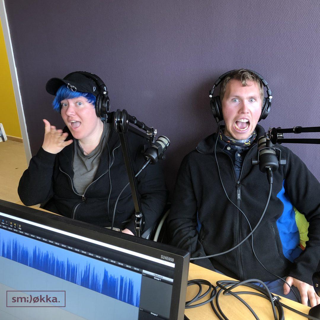Thea og Martin i studio hos Smiløkka